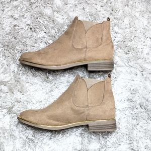 Tan Suede Desert Ankle Boot